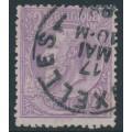 BELGIUM - 1886 2Fr violet on pale lilac King Leopold II, used – Michel # 47