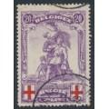 BELGIUM - 1914 20c+20c violet/red Red Cross issue, used – Michel # 106