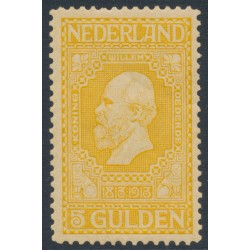 NETHERLANDS - 1913 5G golden-yellow Jubilee, perf. 11½:11½, MH – NVPH # 100B