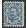 LUXEMBOURG - 1907 25c ultramarine Grand Duke Wilhem IV, MH – Michel # 76
