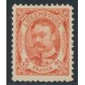 LUXEMBOURG - 1908 2½Fr red-orange Grand Duke Wilhem IV, MH – Michel # 82