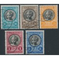 LUXEMBOURG - 1928 Children's Charity set of 5, used – Michel # 208-212