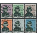 LUXEMBOURG - 1938 Children's Charity set of 6, used – Michel # 252-256