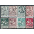 BELGIUM - 1910 Tuberculosis Fund set of 8 with tabs, used – Michel # 81I-88I
