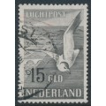 NETHERLANDS - 1951 15G brown-black Seagull airmail, used – NVPH # LP12
