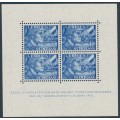 NETHERLANDS - 1942 12½c + 87½c blue Dutch Legion sheetlet of 4, MNH – NVPH # 403B