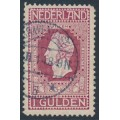 NETHERLANDS - 1913 1G purple-red Jubilee, perf. 11½:11, used – NVPH # 98A