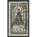 NETHERLANDS - 1923 2½Gld black-brown Queen Wilhelmina Jubilee, used – NVPH # 130