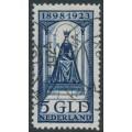 NETHERLANDS - 1923 5Gld deep blue Queen Wilhelmina Jubilee, used – NVPH # 131