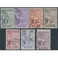 BELGIUM - 1933 Tuberculosis Fund set of 7, used – Michel # 366-372
