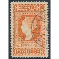 NETHERLANDS - 1913 10G orange Jubilee, perf. 11½:11½, used – NVPH # 101B