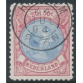 NETHERLANDS - 1893 2½Gld red/blue Princess Wilhelmina, perf. 11½:11½, used – NVPH # 47A