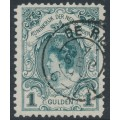 NETHERLANDS - 1898 1G blue-green Queen Wilhelmina (type I), perf. 11½:11, used – NVPH # 49