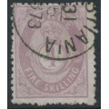 NORWAY - 1872 4Sk violet Posthorn, used – Facit # 19