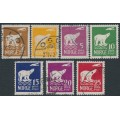 NORWAY - 1925 Amundsen's Polar Flight (Polar Bear) set of 7, used – Facit # 151-157
