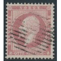 NORWAY - 1856 8Sk brown-carmine King Oscar I, used – Facit # 5av²