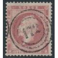 NORWAY - 1856 8Sk brown-carmine King Oscar I, used – Facit # 5a