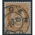 NORWAY - 1883 12øre deep brown Posthorn (unshaded, picture height = 21mm), used – Facit # 42b