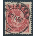 NORWAY - 1886 10øre brown-carmine Posthorn (unshaded, picture height = 20mm), used – Facit # 53IIa