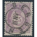 NORWAY - 1888 25øre dull violet Posthorn (unshaded, picture height = 20mm), used – Facit # 55