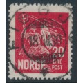 NORWAY - 1930 20øre red King Olav II, used – Facit # 179