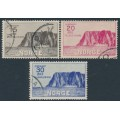NORWAY - 1930 North Cape set of 3 (1st series), used – Facit # 181-183