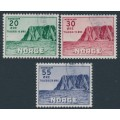 NORWAY - 1953 North Cape set of 3 (4th series), used – Facit # 413-415