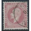NORWAY - 1856 8Sk pale carmine King Oscar I, used – Facit # 5a