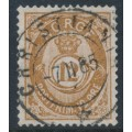 NORWAY - 1883 12øre orange-brown Posthorn (unshaded, picture height = 21mm), used – Facit # 42c
