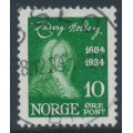 NORWAY - 1934 10øre green Ludvig Holberg, used – Facit # 194