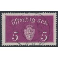 NORWAY - 1934 5øre purple Large Official, used – Facit # TJ10