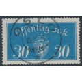 NORWAY - 1933 30øre pale blue Large Official, used – Facit # TJ16