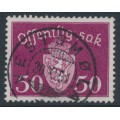 NORWAY - 1947 50øre deep brown-lilac Official, used – Facit # TJ52