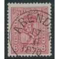 NORWAY - 1867 8 Skilling carmine-rose Coat of Arms, used – Facit # 15a