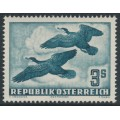 AUSTRIA - 1953 3S greenish blue Bird airmail, MNH – Michel # 985
