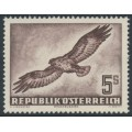 AUSTRIA - 1953 5S purple-brown Bird airmail, MNH – Michel # 986