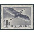 AUSTRIA - 1953 10S violet-grey Bird airmail, MNH – Michel # 987