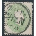 AUSTRIA - 1860 3Kr green Emperor Franz Josef, perf. 14, used – Michel # 19
