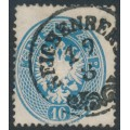 AUSTRIA - 1863 10Kr blue Double-Headed Eagle, perf. 14, used – Michel # 27