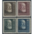 AUSTRIA - 1928 Tenth Anniversary of the Republic set of 4, MH – Michel # 494-497