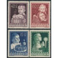 AUSTRIA - 1949 Children's Welfare set of 4, MNH – Michel # 929-932