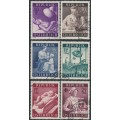 AUSTRIA - 1954 Medical Research set of 6, used – Michel # 999-1004