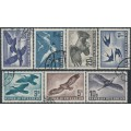 AUSTRIA - 1950-1953 Birds Airmail definitives set of 7, used – Michel # 955-956, 968, 984-987