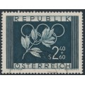 AUSTRIA - 1952 2.40S+60g blue Summer & Winter Olympics, used – Michel # 969