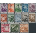 AUSTRIA - 1935 5g to 3S Airmail short set of 13, used – Michel # 598-610