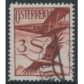 AUSTRIA - 1926 3S deep brown-red Crane & Plane airmail, used – Michel # 485