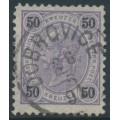 AUSTRIA - 1890 50Kr violet/black Emperor Franz Josef, perf. 11½:11½, used – Michel # 60H