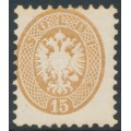 AUSTRIA - 1864 15So brown Double Eagle, perf. 9½:9½, Lombardy-Venice, MH – Michel # 23