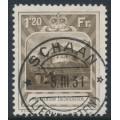 LIECHTENSTEIN - 1930 1.20Fr deep ochre-brown Vaduz Castle, used – Michel # 105