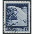 LIECHTENSTEIN - 1930 1.50Fr deep blue Pfälzerhütte, used – Michel # 106